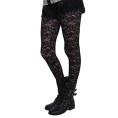 LOVEsick Black Floral Lace Fishnet Tights Hot Topic ($8.75) ❤ liked on Polyvore featuring intimates, hosiery, tights, fishnet hosiery, lace stockings, floral print tights, lacy stockings and fishnet pantyhose