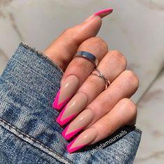 fall nails nail art pretty nails nail design engagement nails longs nails spring…, Many women … Barbie Pink Nails, Blush Pink Nails, Bright Pink Nails, Multicolored Nails, Violet Nails, Burgendy Nails, Pastel Pink, Yellow Nails, Engagement Nails