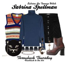 Sabrina the Teenage Witch by sparkle1277 on Polyvore featuring polyvore, fashion, style, Velvet, Stella Jean, Charlotte Olympia, Roberto Cavalli, Topshop, Accessorize and clothing