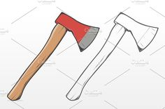 Wooden Axe axe isolated white hatchet steel nobody heavy tool hack sharp new iron studio lumberjack weapon handle equipment blade object wood Axe Drawing, Pencil Sketch Drawing, Contour Drawing, Anime Drawings Sketches, Drawing Base, Colorful Drawings, Easy Drawings, Axe Tattoo, Lion Art
