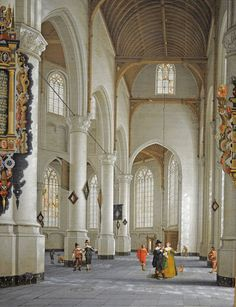 File:De Lorme The Interior of the Church of St. Laurens in Rotterdam.jpg