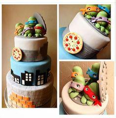 Birthday, Cake, Party, Desserts, Ninja Turtles, Toddler Girls, Cakes, Pastries, Food Cakes