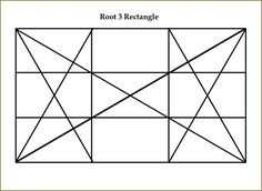 Root 3 Dynamic Symmetry rectangle