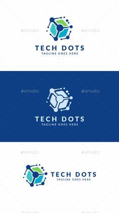 Tech Dots: Abstract Logo Design Template created by Logo Design Template, Letterhead Template, Logo Templates, Technology Logo, Technology Wallpaper, Teaching Technology, Futuristic Technology, Technology Design, Logo Branding