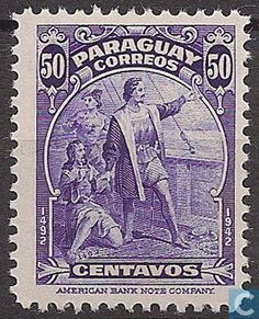 Stamps - Paraguay - 450th anniversary of the discovery of America 1943
