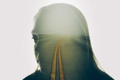 Fascinating Series Of Double Exposure Photos Paired With Words Of Wisdom - DesignTAXI.com  Be mindful of the roads you choose, they will take you where you are going!
