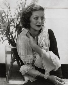 Edward Steichen photo of Loretta Young actress -repinned by Long Beach, CA studio photographer http://LinneaLenkus.com  #portraits