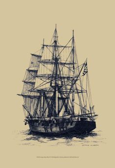 Pirates ship sketch