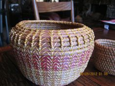 Pine Needle Basket with Beaded Top by Dee22450 on Etsy, $195.00