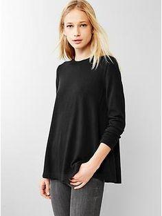 Gap 100% Merino Wool A-line sweater in Black (purchased)