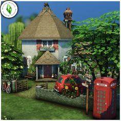 Sims 4 Build, Beagle, Gazebo, Cottage, Outdoor Structures, Building, House, Instagram, Kiosk