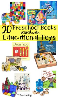 20 Preschool Books Paired with Educational Toys