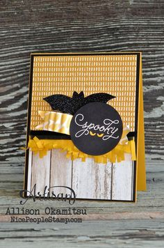 Don't forget you can mix and match several designer papers on one card! - Allison Okamitsu