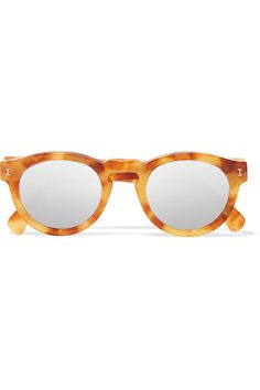 9d9c2f5182 Illesteva - Leonard round-frame acetate mirrored sunglasses