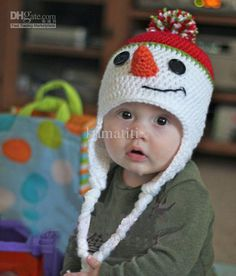 Wholesale Boys Mr. Frosty Crochet Baby Hat - White Knit Snowman Winter or Christmas Holiday Beanie, Free shipping, $12.32~14.82/Piece | DHgate