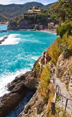 Travel Gallery: Beaches of Monterosso al Mare, Cinque Terre Italy Places Around The World, Oh The Places You'll Go, Places To Travel, Places To Visit, Dream Vacations, Vacation Spots, Wonderful Places, Beautiful Places, Parc National