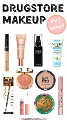 Holy grail makeup products from the drugstore that should be in everyone's makeup bag. What is Makeup ? What's Makeup … Elf Makeup Dupes, Makeup Tips, Beauty Makeup, Eye Makeup, Beauty Dupes, Makeup Ideas, Beauty Hacks, Makeup Brush, Beauty Secrets