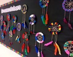 & Art Club) Art with Mrs. Nguyen (Gram): Dreamcatchers & Art Club)Art with Mrs. Art Club Projects, Native American Projects, 5th Grade Art, Ecole Art, Middle School Art, Art Lessons Elementary, Art Lesson Plans, Art Classroom, Art Plastique
