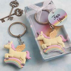 Delightful+Unicorn+design+key+chain