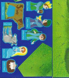 Imágenes para recortar y armar el Nacimiento del Niño Dios, disponibles en el empaque de galletas navideñas de colombina del año 2010