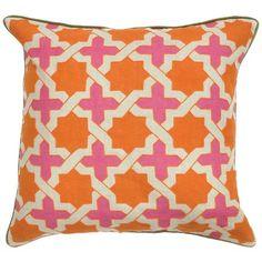 Pink and orange pillow