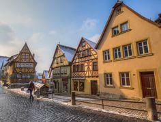 Cuando la navidad (y la nieve) llega a uno de los pueblos más bonitos de Europa (Rothenburg, Alemania)