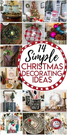 14 Simple and thrifty Christmas Decorating Ideas including a dollar store duster wreath. Christmas Tablescapes, Christmas Centerpieces, Christmas Decorations, Simple Christmas, Christmas Holidays, Christmas Wreaths, Christmas Ideas, Celebrating Christmas, Christmas Design