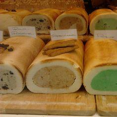 Handmade Belgian marzipan that looks like those icecream rolls