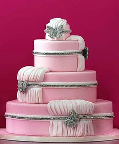 Pink Wedding Cake with Butterflies. Jan Kish-La Petite Fleur, Columbus, OH Beautiful Wedding Cakes, Gorgeous Cakes, Pretty Cakes, Amazing Cakes, Perfect Wedding, Butterfly Wedding Cake, Butterfly Cakes, Butterflies, Fondant Wedding Cakes