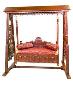 Indian wood jhoola swing home decor pinterest for Living room jhula