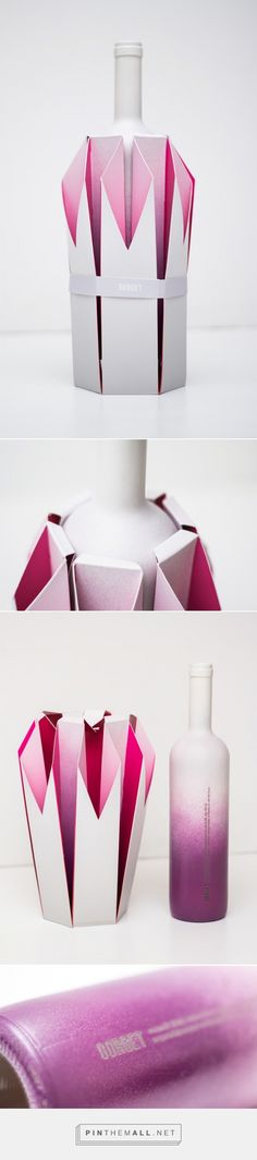 Gorget wine concept packaging designed by Natalia Wysocka - http://www.packagingoftheworld.com/2015/08/gorget-student-project.html