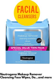 (This is an affiliate pin) Neutrogena Makeup Remover Cleansing Face Wipes, Daily Cleansing Facial Towelettes to Remove Waterproof Makeup and Mascara, Alcohol-Free, Value Twin Pack, 25 count, 2 Pack Neutrogena Makeup Remover, Facial Cleansers, Waterproof Makeup, Alcohol Free, Mascara, Count, Twin, How To Remove, Personal Care
