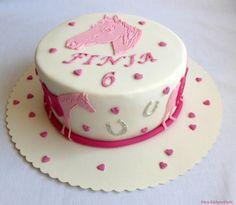 rosa Pferde-glitzer- Torte