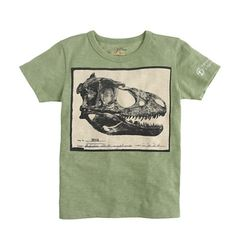 j.crew - crewcuts - j.crew for the american museum of natural history dino skull tee