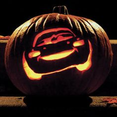 Lightning McQueen Pumpkin Carving Template