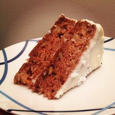 Want to make a healthy carrot cake? Just substitute eggs, milk and butter for egg whites, almond milk and applesauce! It turns out just as beautiful (as you can see) and delicious!