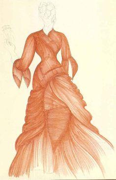 Bram Stoker's Dracula - beautiful concept art for costumes by Eiko Ishioka. Ballet Costumes, Movie Costumes, Cool Costumes, Mina Harker, Dracula Costume, Eiko Ishioka, Bram Stoker's Dracula, Winona Ryder, Hollywood Fashion