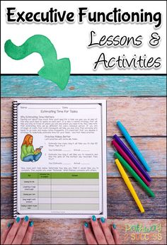 Teach executive functioning lessons, activities, and crafts to kids and teens with this set of resources! These are perfect for middle school or upper elementary kids who need to improve their planning, organization, self-control, and more. #executivefunctioning #studyskills #specialeducation