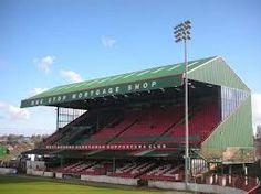 The Oval, home of Glentoran FC, East Belfast, Northern Ireland.