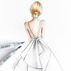 Keep it simple. 😊 @oscardelarenta . . . . . #fashionillustration #fashionsketch #fashionillustrator #bostonblogger #bostonillustrator…