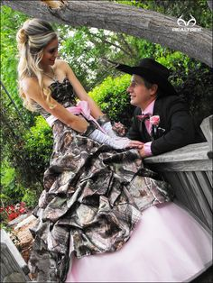 This has been the Realtree dress of her dreams for two years. Who thinks she looks stunning?  #camodressse #promdresses