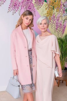 Models Thalia Heffernan & Lorna Brittain at the launch of the Arnotts Spring/Summer '18 collection. Thalia wears: InWear coat soft pink; Fee Gee soft pink shell top; Fee Gee sheer embroidered skirt; Furla grey box and Kurt Geiger shoes. Lorna wears: Caroline Kilkenny nude jumpsuit; LK Bennett nude shoes and Michael Kors clutch. Picture: Anthony Woods