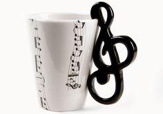 Music Coffee Mugs - http://www.differentdesign.it/2014/03/16/music-coffee-mugs/