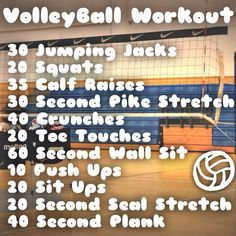 Volleyball Volleyball Workout :heart: This is my edit! -Avery (Volleyball Hair Braids) Your Wedding Volleyball Training, Volleyball Skills, Volleyball Workouts, Volleyball Quotes, Coaching Volleyball, Gym Workouts, At Home Workouts, Volleyball Braids, Volleyball Gifts
