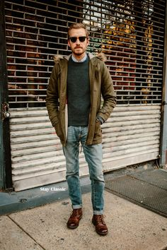December 19, 2014. Today is my birthday. This is my daytime outfit. I love the Eastland High Fidelity so much I had to buy another pair, but this time in tan. Jacket: Bellfield Wool Parka - ASOS - $130Sweater: Bremerhaven -Bonobos(c/o)Jeans:American Eagle- $29Boots: High Fidelity in Tan - Eastland - JackThreadsSunglasses:Ray Ban Clubmaster- $87 (cheaper)