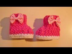 Babyboots häkeln - Babyschuhe - crochet - Boots - Schuhe - Baby - Babysocke - YouTube