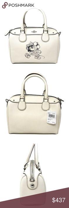 b0c79eaa74 Coach Disney Minnie Mouse Mini Bennett Bag Leather Coach Disney Minnie  Mouse Mini Bennett Bag Leather