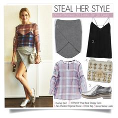 """""""Steal Her Style-Olivia Palermo 30 Looks for 30 Days"""" by kusja ❤ liked on Polyvore featuring Zara, Topshop, Chloé, Senso, women's clothing, women, female, woman, misses and juniors"""