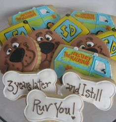 Scooby doo Cookies 1 dozen Scooby assortment by RPConfections, $35.00