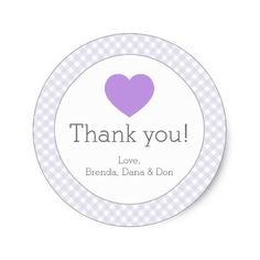Lavender Gingham with Heart